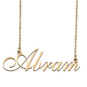 Custom Personalized Abram Name Necklace